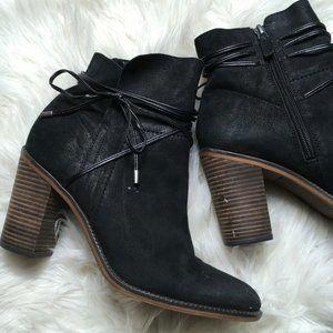 Franco Sarto Women Black 9.5 Edaline Ankle Booties